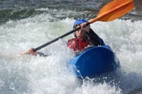 Kayaker at playwave